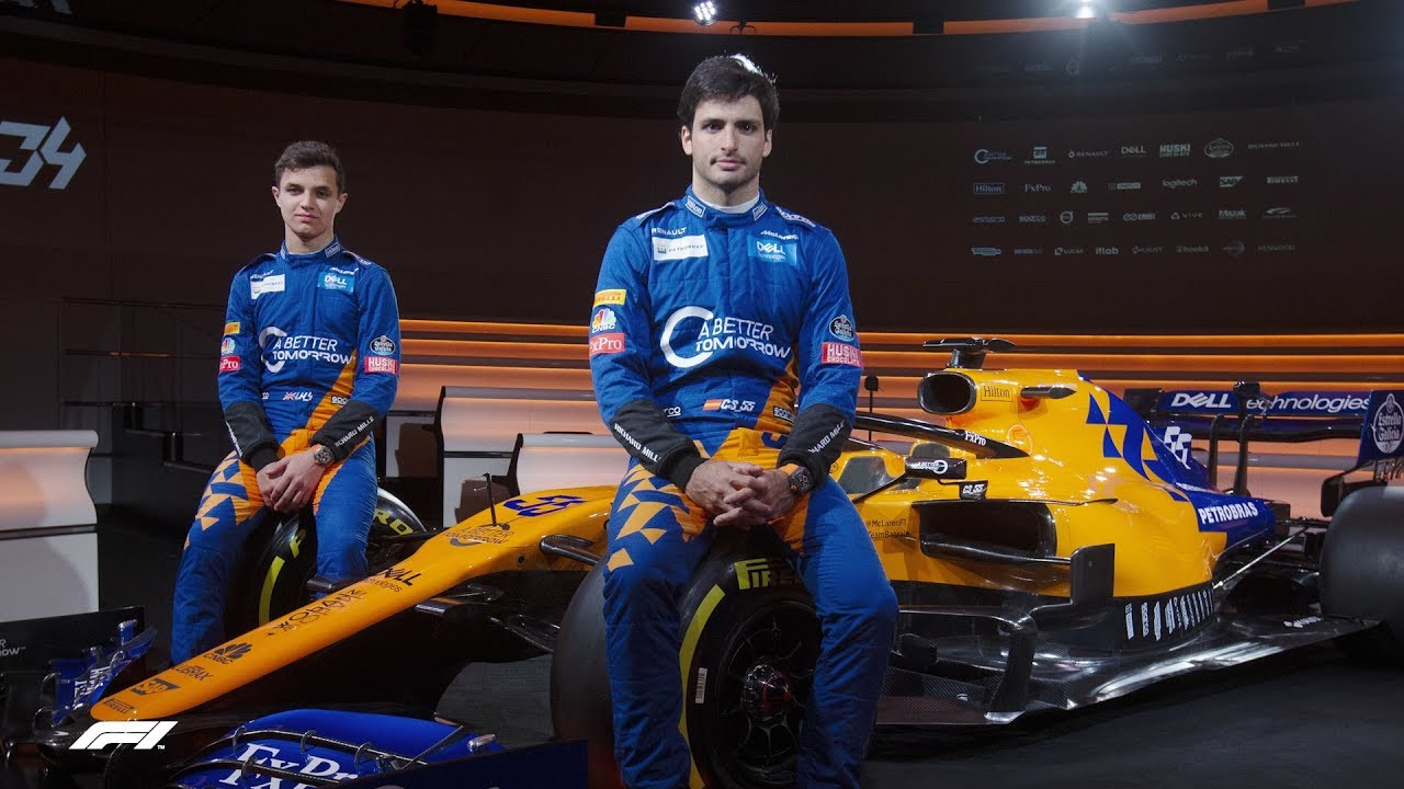 Mclaren Show Off Dramatic New Mcl34 2019 Formula 1 Launches Youtube