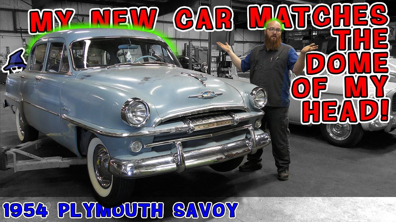 The CAR WIZARD finally gets a car that truly matches him, a 1954 Plymouth Savoy!