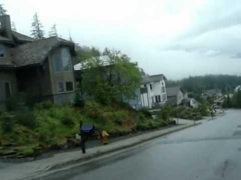Juneau Alaska driving down Blueberry Hill