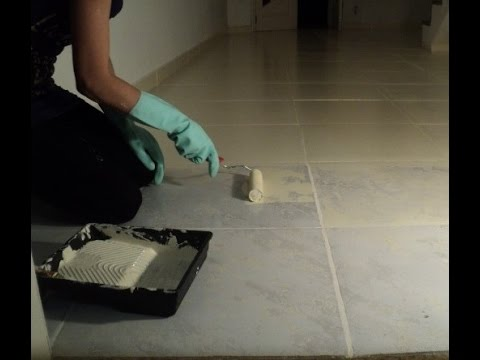 Pintando o piso com tinta epóxi à base solvente.   youtube