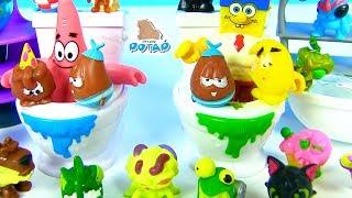 #Сюрпризы в Унитазе и Туалетной Бумаге! Жители Туалета! Видео для детей! Губка Боб! PooPeez
