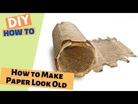 How To Make Paper Look Old - without words!
