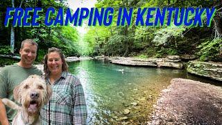 Roodles favorite FREE CAMPĠROUND in Kentucky!!! War Fork Creek!