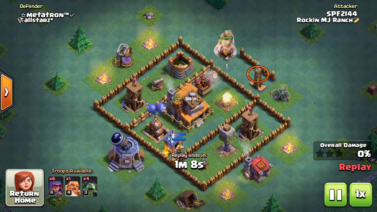 Builder base th 4 coc youtube Best builder house 4 base