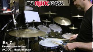 AC/DC - Back in black - FREE DRUM LESSON