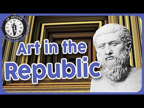 What does Plato think of art?