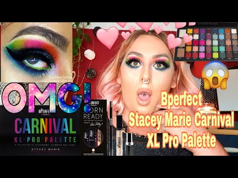 Bperfect Stacey Marie Carnival XL Pro Palette 😍 & BORN READY LIPKIT BOO💄+ Swatches 😱   Review thumbnail