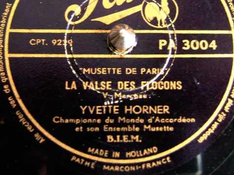 Yvette Horner - La valse des flocons - 78 tours
