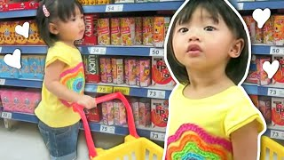 Baby Doing Grocery Shopping -- Mini Shopping Cart