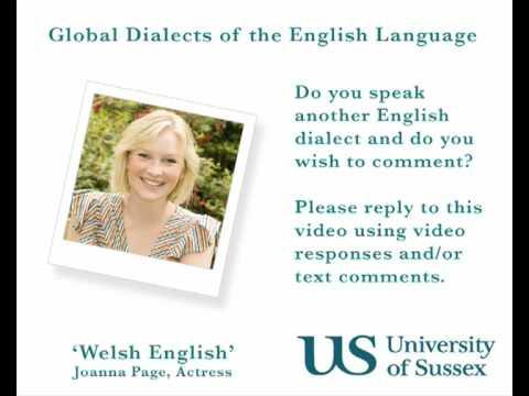 Welsh English  Joanna Page