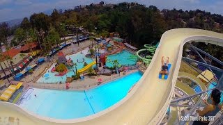 High Extreme Water Slide POV - Raging Waters 2015 - Water Park