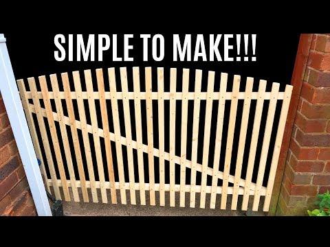 How To Make A Garden Gate - DIY