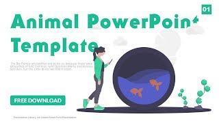 animals powerpoint template