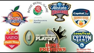 Espn New Years 6 College Football 2015 16 Bowl Predictions