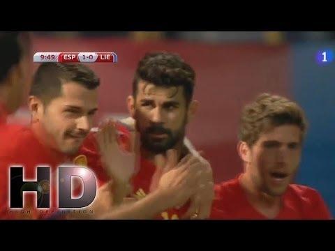 Spain vs Liechtenstein 8-0 RESUMEN y Goles & All Goals - Highlights (5/09/2016)