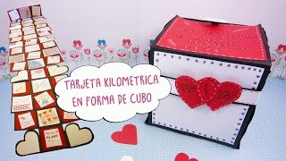 Tarjeta Kilometrica en Forma de Cubo -San Valentín- Manualidades aPasos