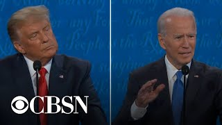 Trump and Biden debate health care plans and preexisting conditions