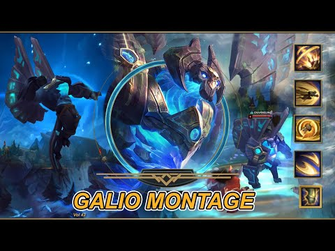 Galio Montage S10 - Best Galio Plays - Satisfy Teamfight & Kill Moments - League of Legends