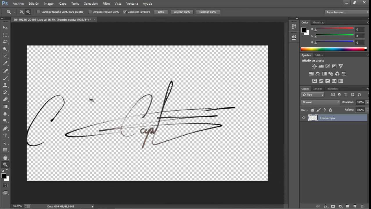 Como Digitalizar Una Firma Con Fondo Transparente En Photoshop Youtube