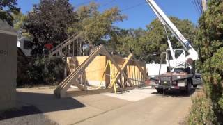 Western Garage Builders Attic Truss Installation Video