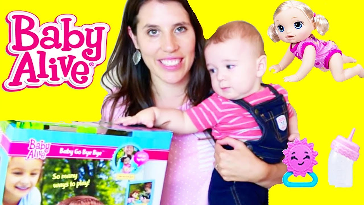 Toy Review New Crawling Baby Alive Doll Go Bye Bye Youtube