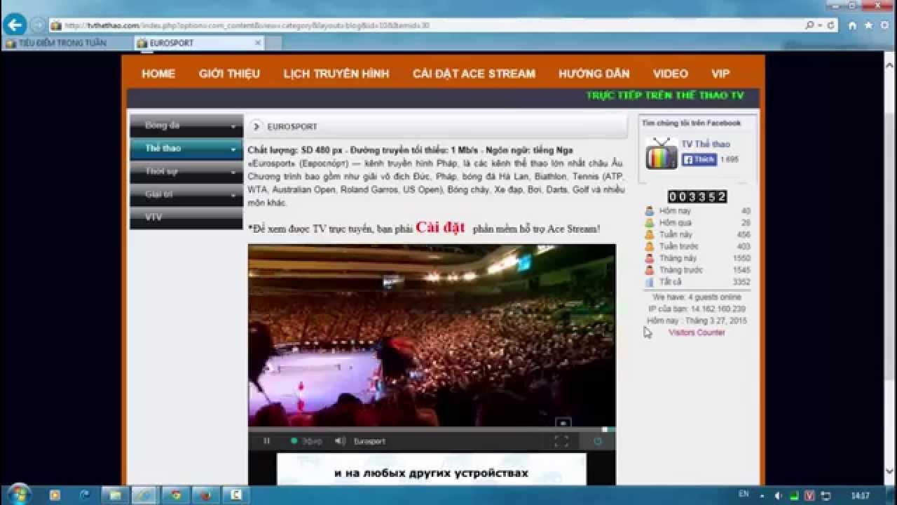 Hướng dẫn cài đặt  Ace Stream để xem bóng đá trực tuyến trên  tvthethao.com