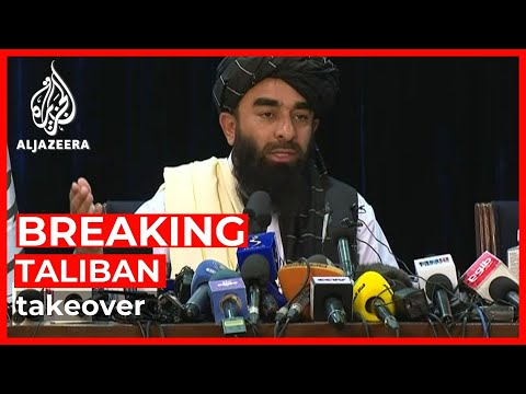 Taliban spokesperson hosts first news conference in Kabul