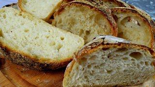 Простой рецепт домашнего хлеба в духовке Delicious Homemade Ciabatta Bread recipe