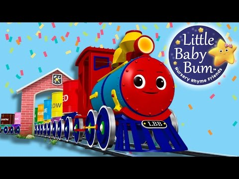 Thumbnail: The Color Train Song | Part 2 | Nursery Rhymes | Original Song By LittleBabyBum!