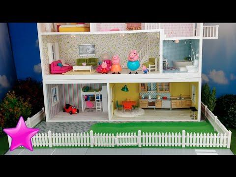 Peppa Pig en espaol Novela 11 LA CASA DE PEPPA PIG Dormitorio nuevo Casas de muecas  YouTube