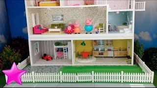 Peppa Pig en español Novela 11ª# LA CASA DE PEPPA PIG Dormitorio nuevo. Casas de muñecas. thumbnail