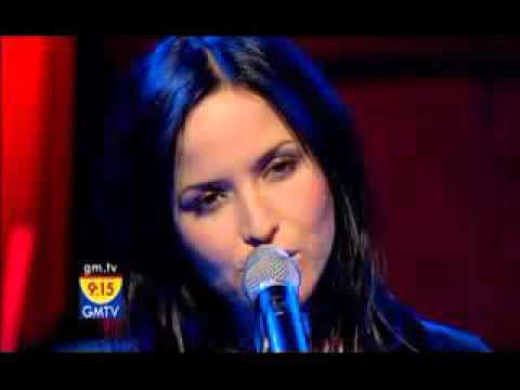 Andrea Corr cracking up on live GMTV