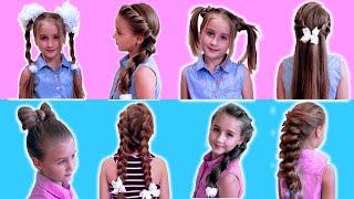 11 Милых причесок для девочек за пару минут Сute hairstyles