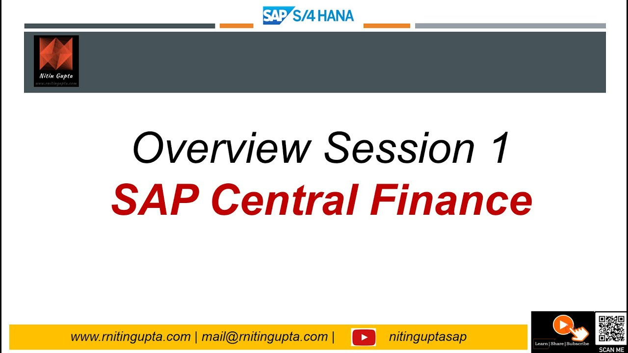 hight resolution of sap s 4hana 1610 central finance session 1 overview