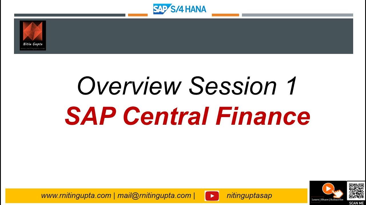 sap s 4hana 1610 central finance session 1 overview  [ 1280 x 720 Pixel ]