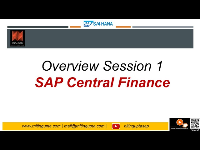 SAP S/4HANA 1610   Central Finance Session 1 (Overview)