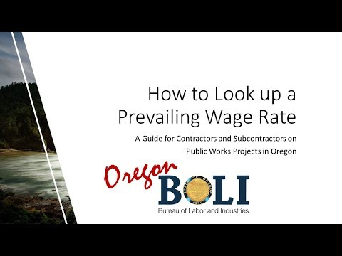 Prevailing Wage Prevailing Wage Rates for Public Works Contracts in