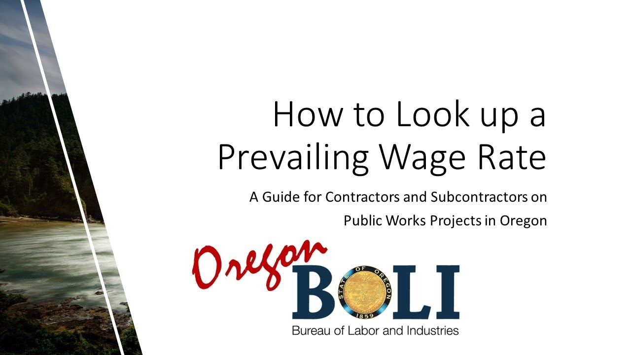 Prevailing Wage Prevailing Wage Rates for Public Works