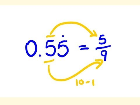 Convert Any Decimal to a Fractions - easy math lesson