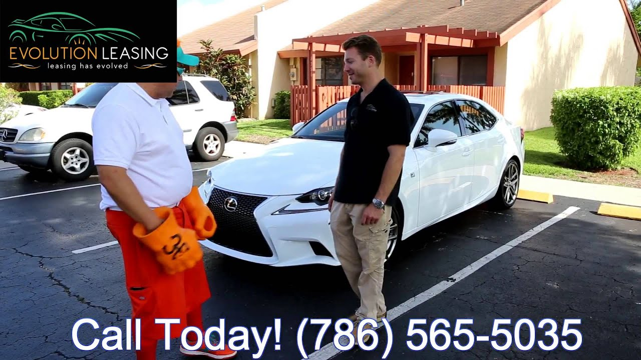 White Lexus IS F Sport Delivery Evolution Leasing Lease Lexus - Lexus miami lease