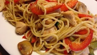 Delicious Stir Fry Chicken And Noodles