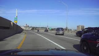 Police cruiser strikes homicide suspect on U.S. 131
