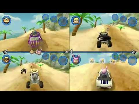 Beach Buggy Racing™ 4 Player Split Screen (on Mobile!)