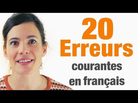 20 Erreurs courantes en français à ne pas commettre