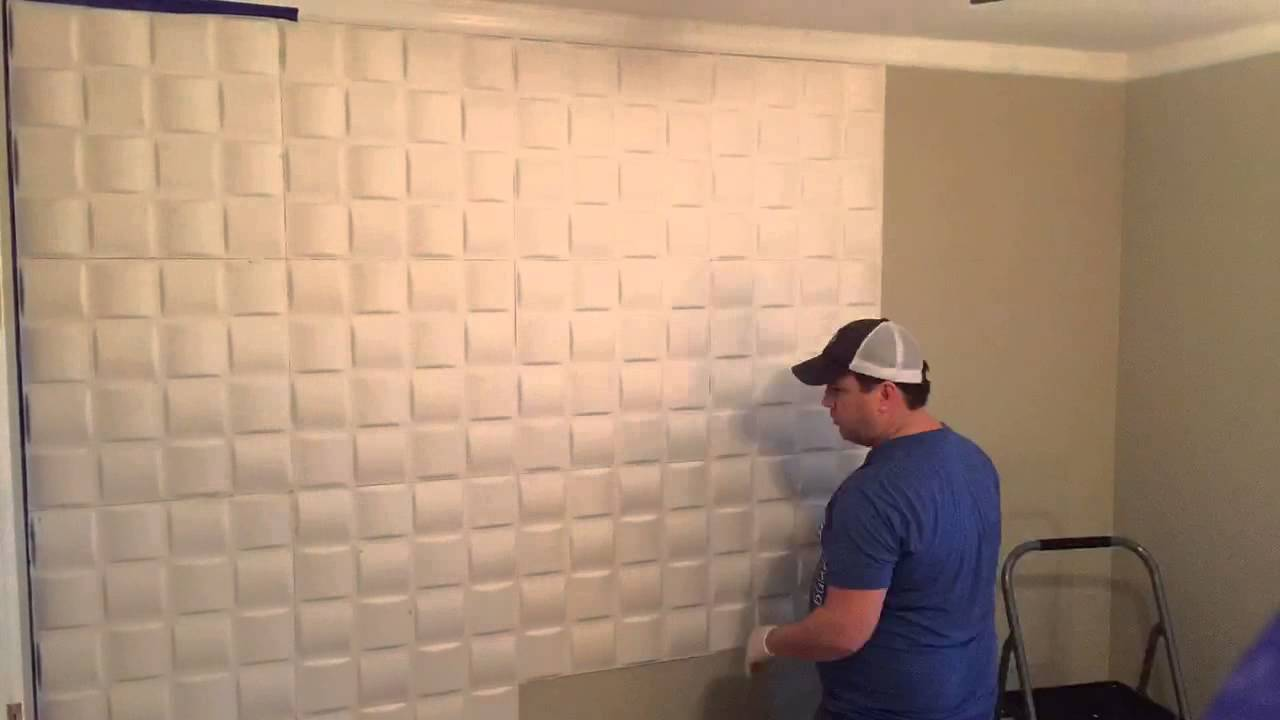 Installing 3d Wall Panels Youtube