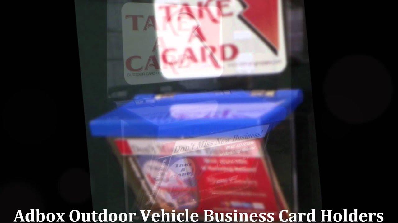 Adbox Outdoor Vehicle Business Card Holder.wmv - YouTube