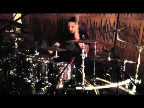 "Dariusz ""Daray"" Brzozowski recording drums for AUTUMN DEATH"