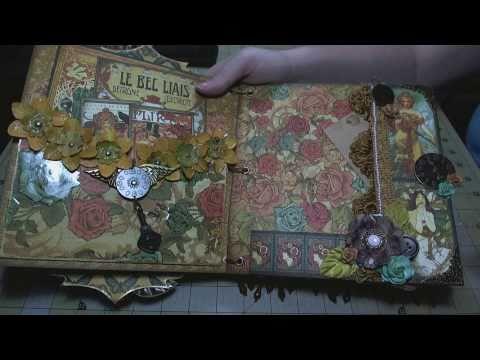 """Scrapbook Album: Steampunk, 8""""x8"""" Chipboard Mini"""