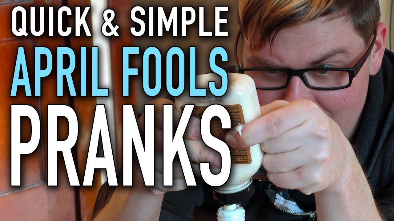 quick simple april fools pranks youtube