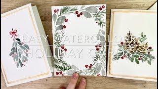 How To Make Easy Watercolour Holiday Cards